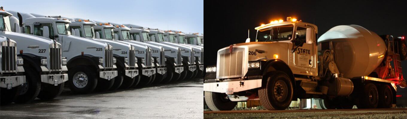 Large, Well-Maintained Fleet of Mixer Trucks